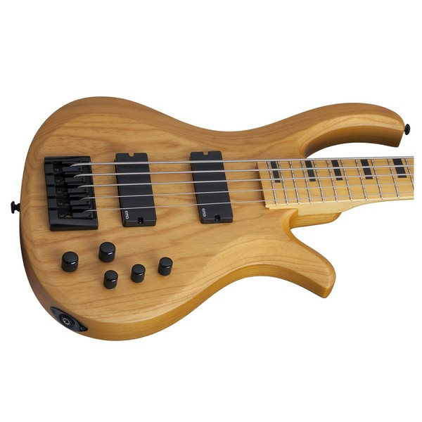 Schecter Riot Session-5 Bass Guitar, Aged Natural