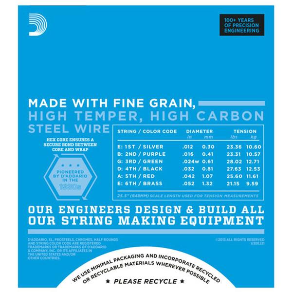 D'Addario EXL110 Electric Guitar Strings, Regular Light 10-46