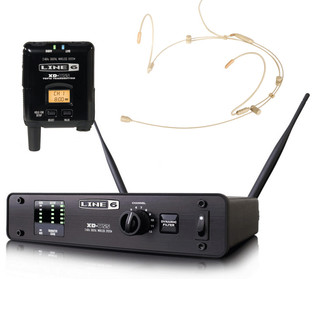Line 6 XD-V55HS Digital Wireless Headset Mic System, Tan