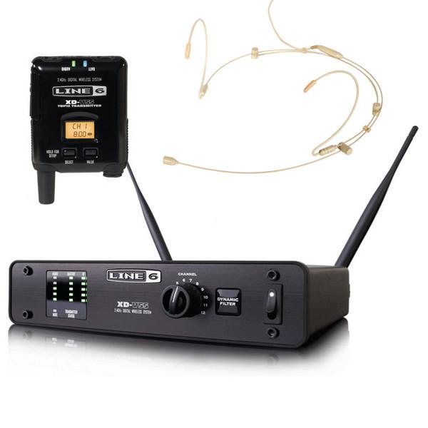 Line 6 XD-V55HS Digital Wireless Headset Mic System, Tan