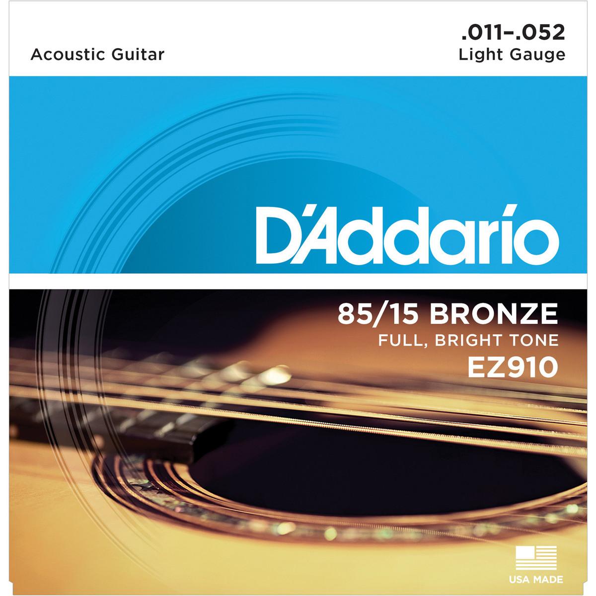 D\'Addario EZ910 85/15 Great American Bronze, Light, 11-52 at ...