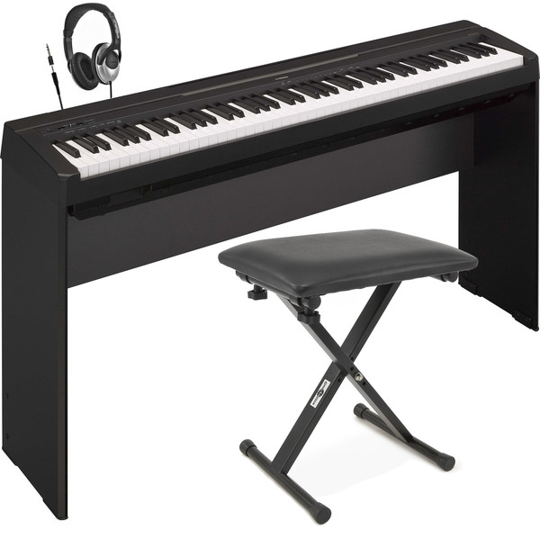 Disc Yamaha P35 Digital Piano Black With Stand Bench And