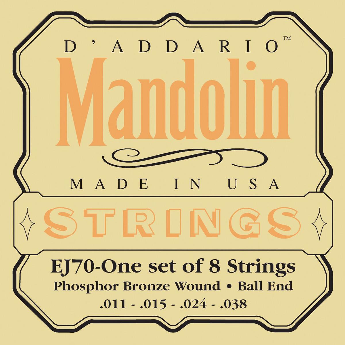 Snaren D'Addario EJ70 fosforbrons mandoline, bal ...