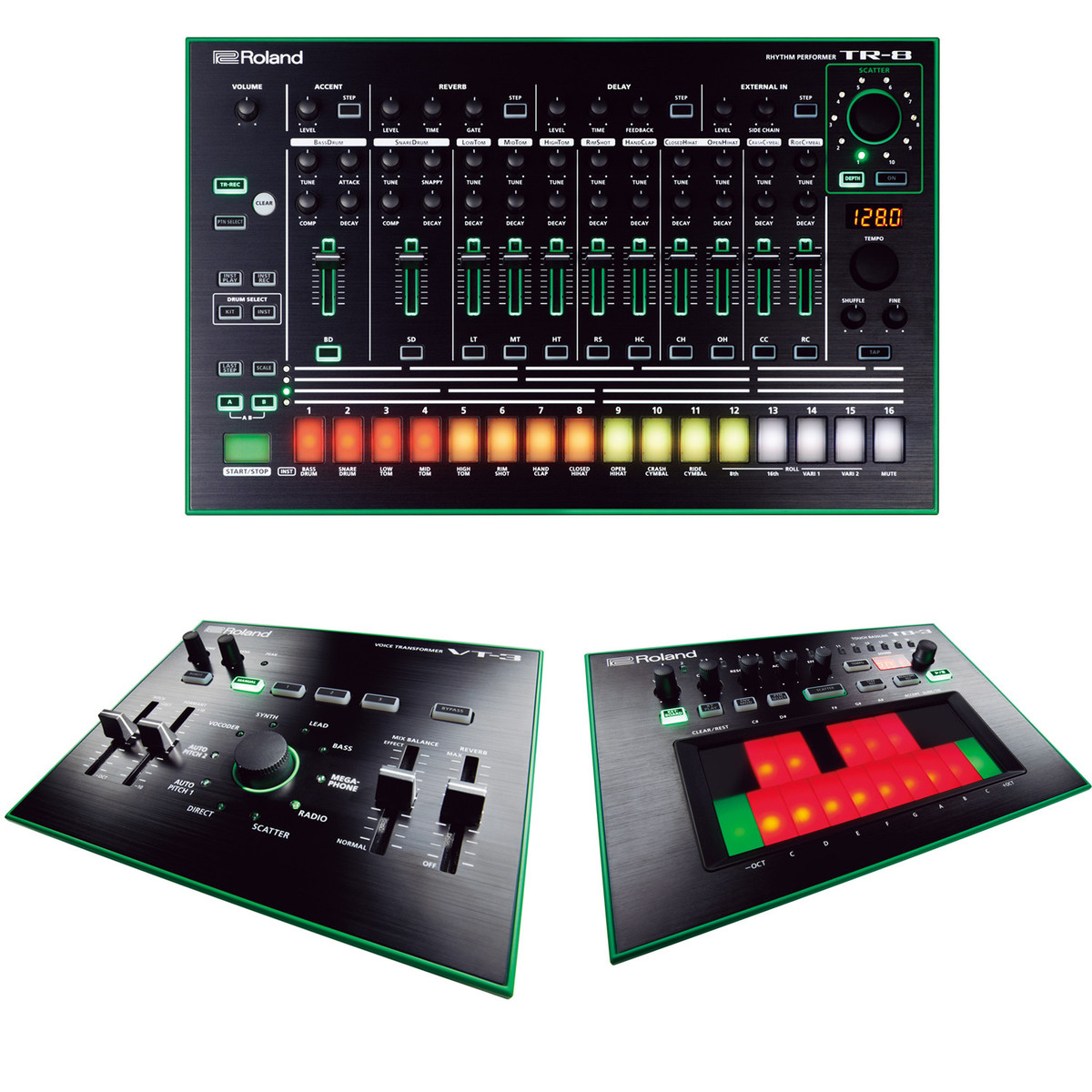 roland aira tr 8 tb 3 and vt 3 bundle at gear4music. Black Bedroom Furniture Sets. Home Design Ideas