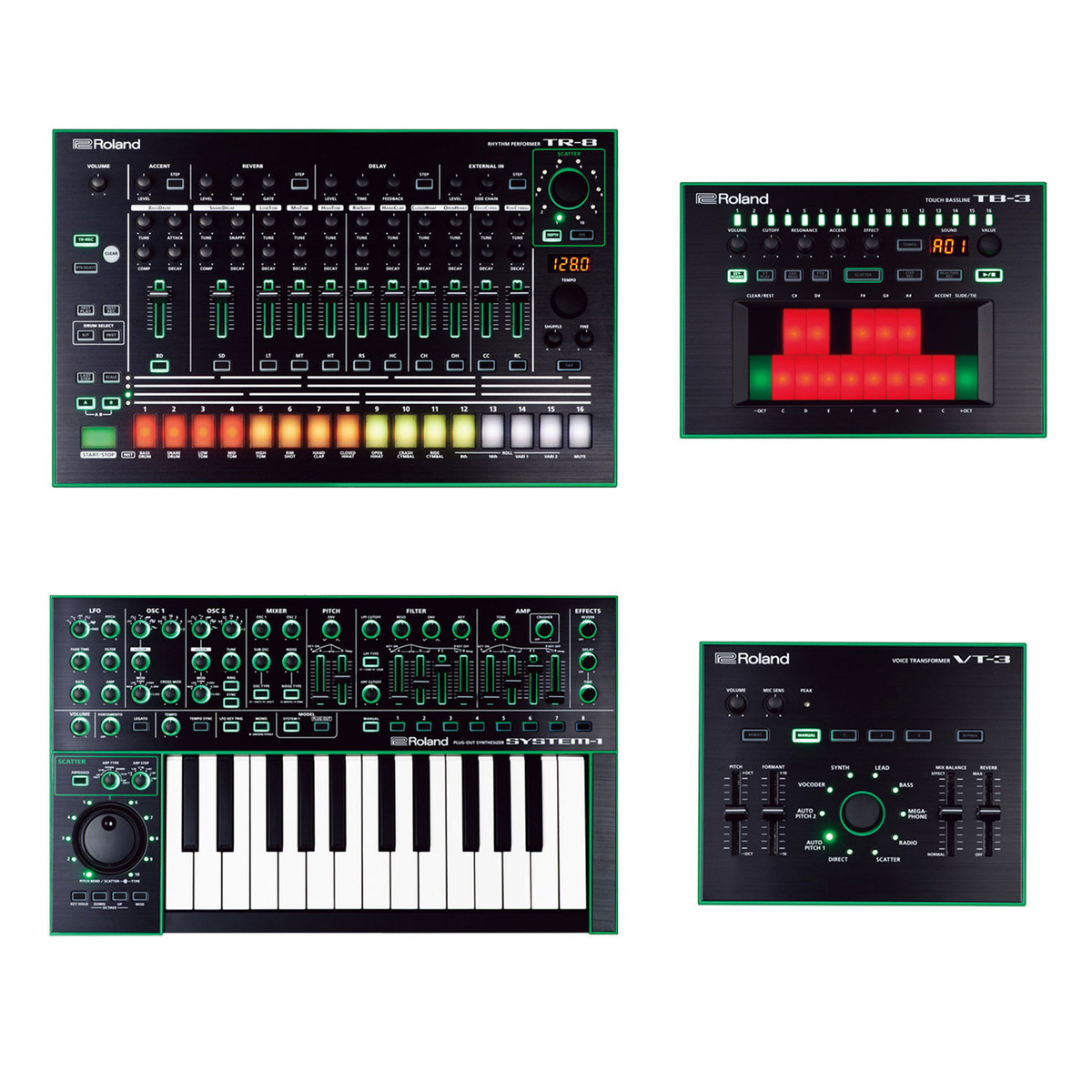 roland aira tr 8 tb 3 vt 3 and system 1 bundle at gear4music. Black Bedroom Furniture Sets. Home Design Ideas