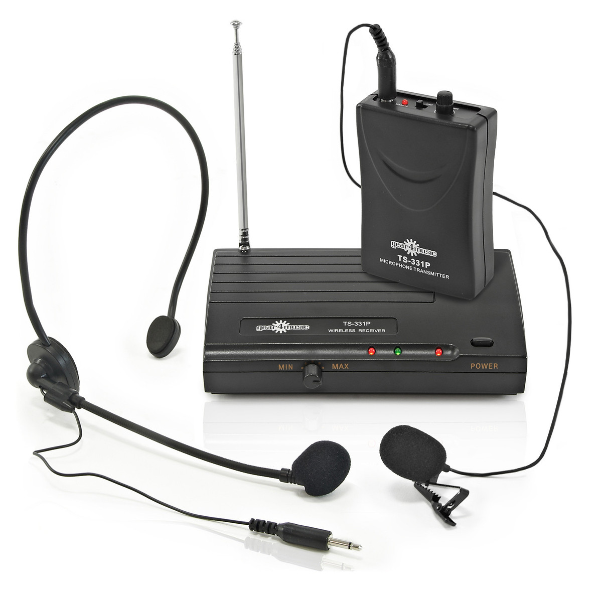 Wireless Microphone Headset and Lavalier Mic System by Gear4music | Gear4music