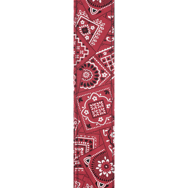 Planet Waves Woven Guitar Strap, Bandana Red