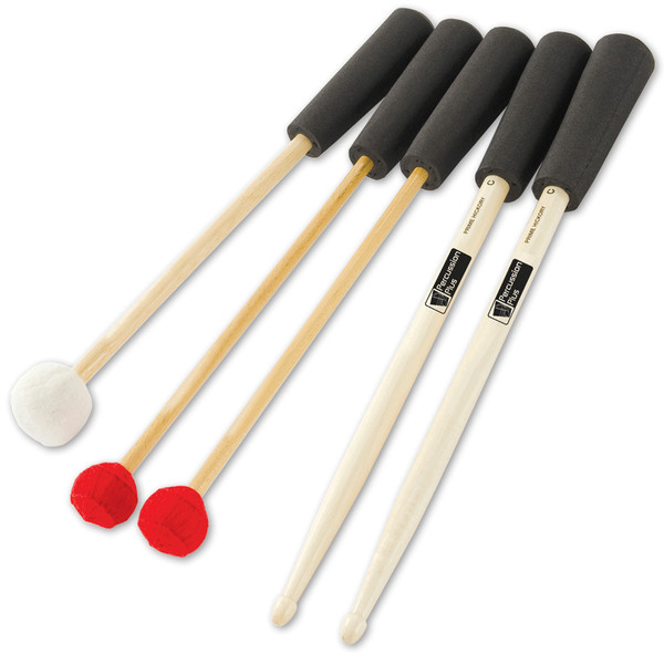 Percussion Plus PP719 Easy Grip Mallets and Beaters, 5 Pack