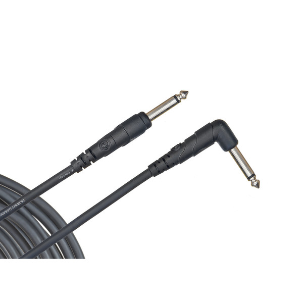 "Planet Waves Classic Series 1/4"" Instrument Cable, Right Angle, 10ft"