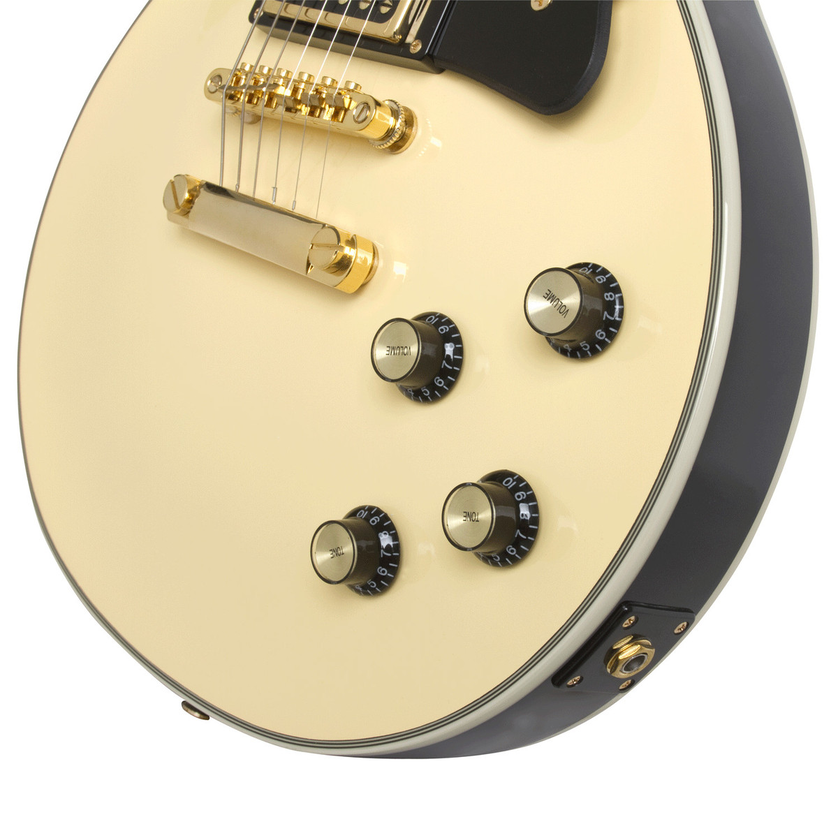 Epiphone Les Paul Custom Blackback Pro Electric Guitar Antique 1970 Gibson Wiring Diagram Ivory