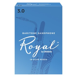 Royal by D'Addario Baritone Saxophone Reeds 3.0 Strength, Pack of 10