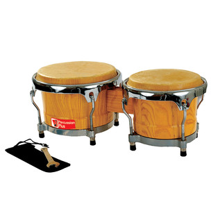 Percussion Plus Professional Bongos, 18cm + 20cm