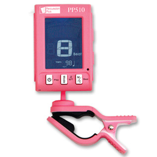 Percussion Plus PP510 Clip Metronome + Tuner, Pink