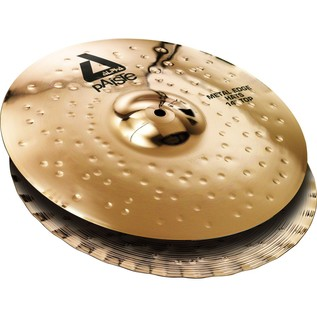 Paiste Alpha 14'' Metal Edge Hi-Hat Cymbals, Brilliant Finish